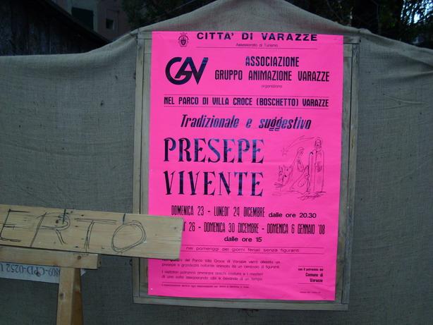 Locandina 13° edizione del Presepe Vivente a San Nazario 2007