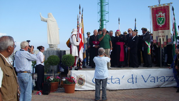 Cerimonia benedizione statua di Santa Caterina
