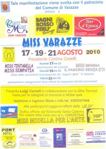 Ponente Varazzino » Varazze: Elezione di Miss Varazze 2010 ai Bagni Rosso Perù