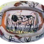 Guglielmo Bozzano ceramica_mucca che si volta_Varazze