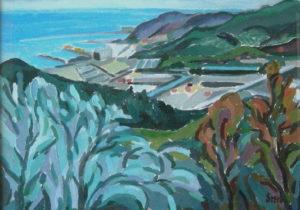 Mariarosa-Scerbo-Paesaggio-ligure-olio-su-tela
