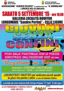 Celle-Ligure.2015.locandina-posa-piastrelle-poesie-Giovani-Senza-Confini