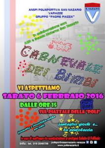 Varazze.6.02.2016.Carnevale-dei-Bimbi_alla-Poli-S-Nazario