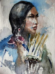 Teresa-Marsupino-Saggezza-indiana.2015.acquerello-su-carta