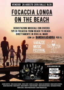 Varazze.26.08.2016.Focaccia-Longa-on-the-Beach