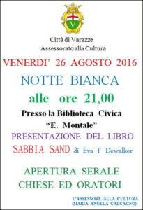Varazze.26.08.2016.pres.-libro-Sabbia Sand