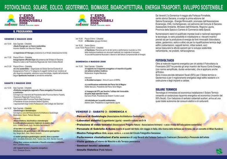 Ponente varazzino sarzana 1 expo energie rinnovabili 2008 - Regione liguria certificazioni energetiche ...